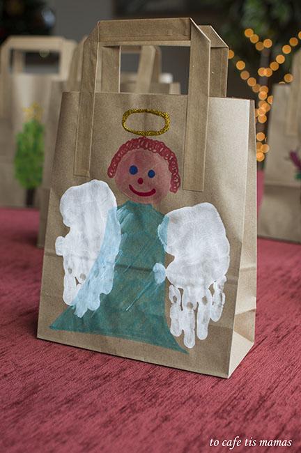 Χριστουγεννιάτικες τσάντες δώρου.