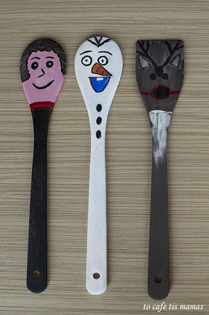 Μαριονέτες απο ξύλινες κουτάλες.