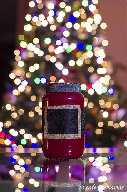 Άγιος Βασίλης απο γυάλινο βάζο.