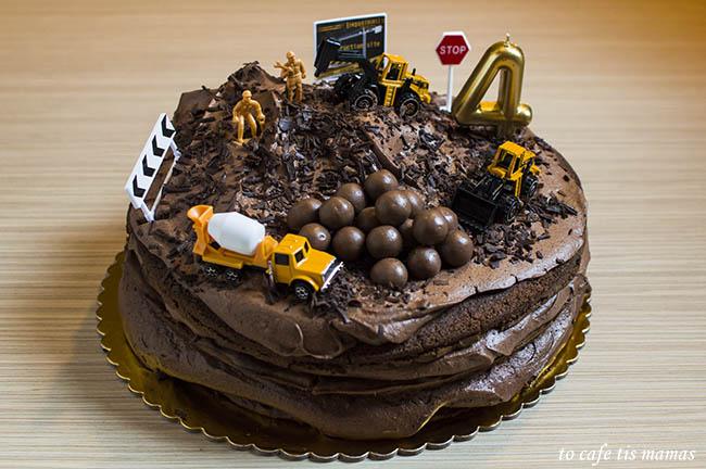 Πάρτυ γενεθλίων με θέμα εργοτάξιο.