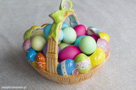 Πασχαλινά αυγά σε παστέλ αποχρώσεις.