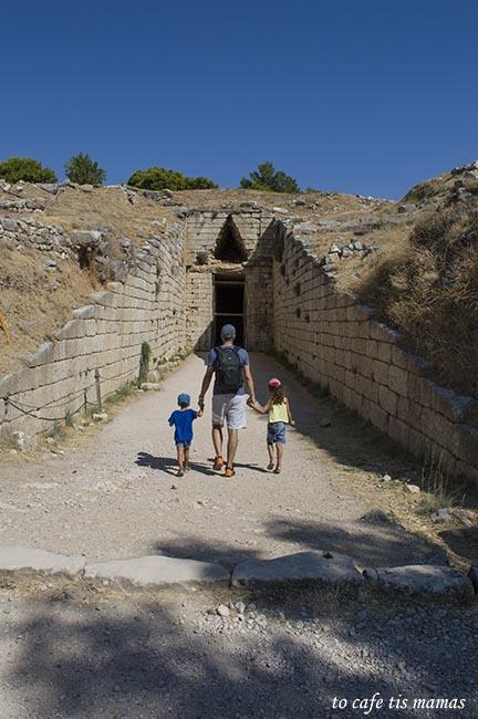 Ο αρχαιολογικός χώρος των Μυκηνών.
